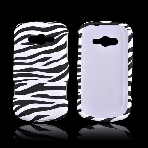 Samsung Galaxy Reverb Rubberized Hard Case - Black/ White Zebra