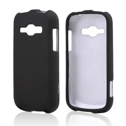 Black Rubberized Hard Case for Samsung Galaxy Ring/ Galaxy Prevail 2