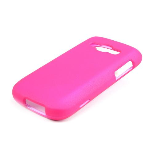 Hot Pink Rubberized Hard Case for Samsung Galaxy Ring/ Galaxy Prevail 2