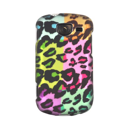 Samsung Brightside Rubberized Hard Case - Multi-Colored Artsy Leopard