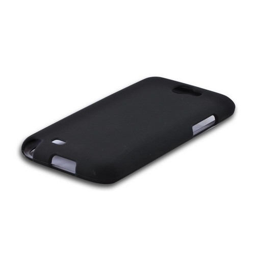Samsung Galaxy Note 2 Rubberized Hard Case - Black
