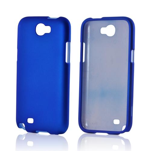 Samsung Galaxy Note 2 Rubberized Hard Case - Blue