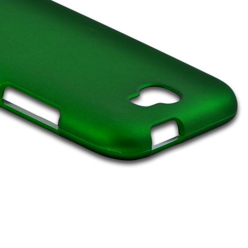 Samsung Galaxy Note 2 Rubberized Hard Case - Green