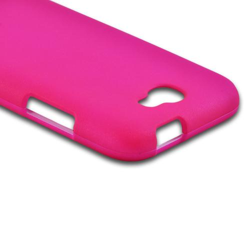 Samsung Galaxy Note 2 Rubberized Hard Case - Hot Pink