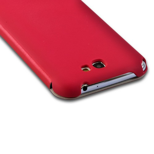Pink Diary Flip Cover Premium Rubberized Hard Case w/ ID Slot for Samsung Galaxy Note 2