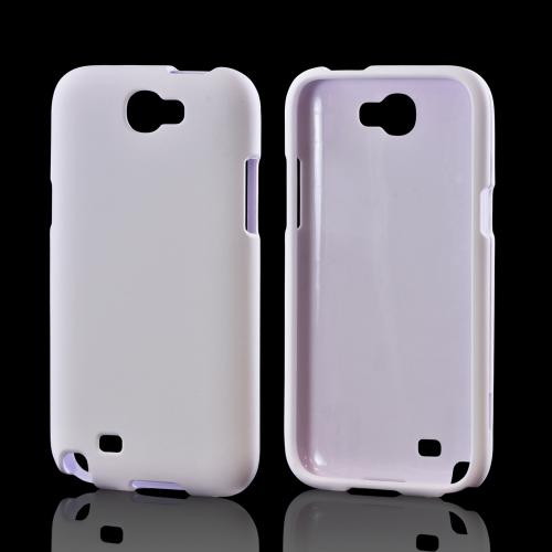 Samsung Galaxy Note 2 Rubberized Hard Case - White