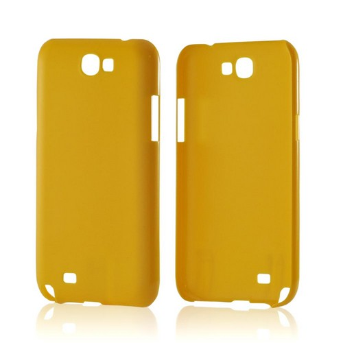 Yellow Rubberized Hard Case for Samsung Galaxy Note 2