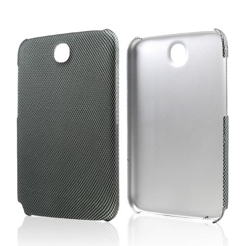 Gray/ Black Carbon Fiber Design Rubberized Hard Case for Samsung Galaxy Note 8.0