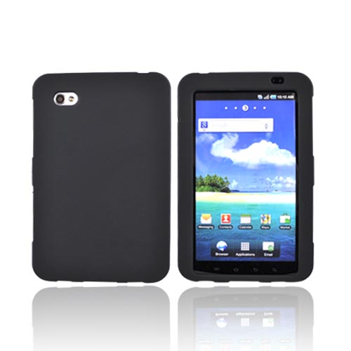 Samsung Galaxy Tab P1000 Rubberized Hard Case - Black