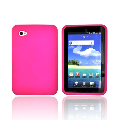 Samsung Galaxy Tab P1000 Rubberized Hard Case - Hot Pink