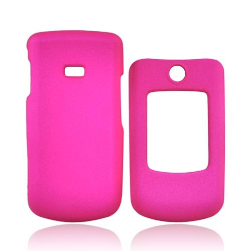 Samsung Contour R250 Rubberized Hard Case - Hot Pink