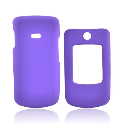 Samsung Contour R250 Rubberized Hard Case - Purple