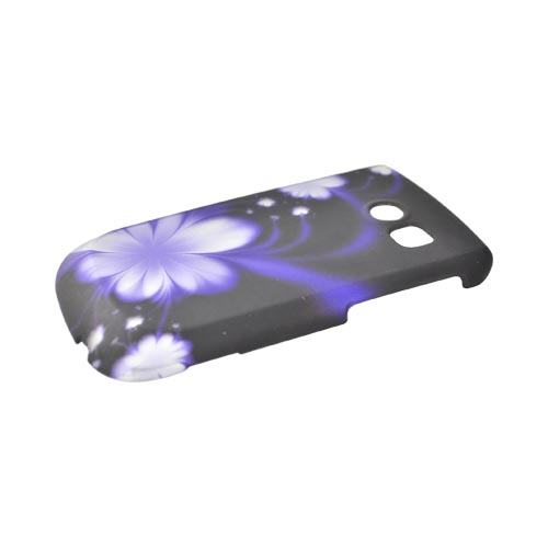 Samsung Freeform 2 R360 Rubberized Hard Case - Purple Flowers on Black
