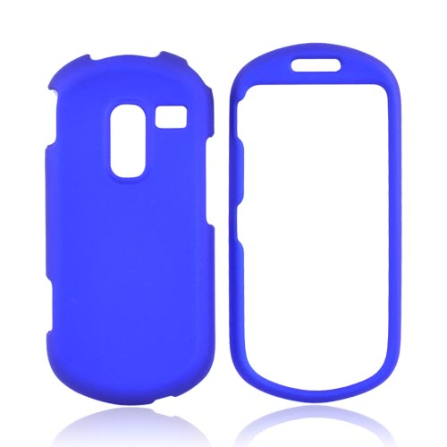 Samsung Messager III R570 Rubberized Hard Case - Blue