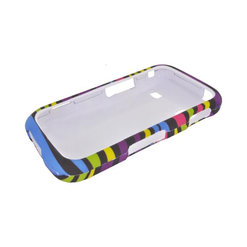 Samsung Repp Rubberized Hard Case - Rainbow Zebra on Black