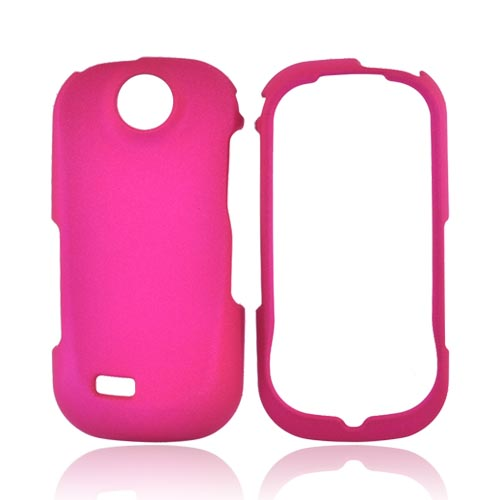 Samsung R710 Suede Rubberized Hard Case - Hot Pink