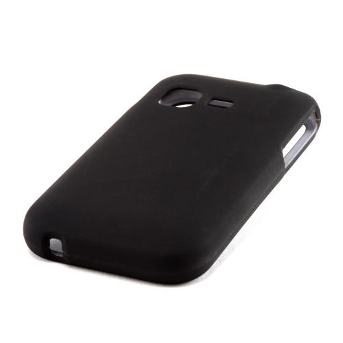 Black Rubberized Hard Case for Samsung S390G