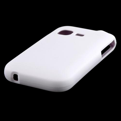 White Rubberized Hard Case for Samsung S390G