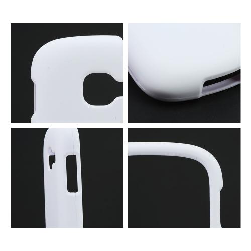 White Rubberized Hard Case for Samsung Galaxy Centura