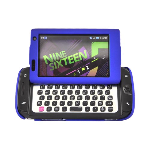 Samsung Sidekick 4G Rubberized Hard Case - Blue