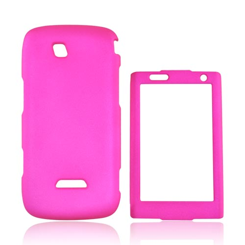 Samsung Sidekick 4G Rubberized Hard Case - Hot Pink