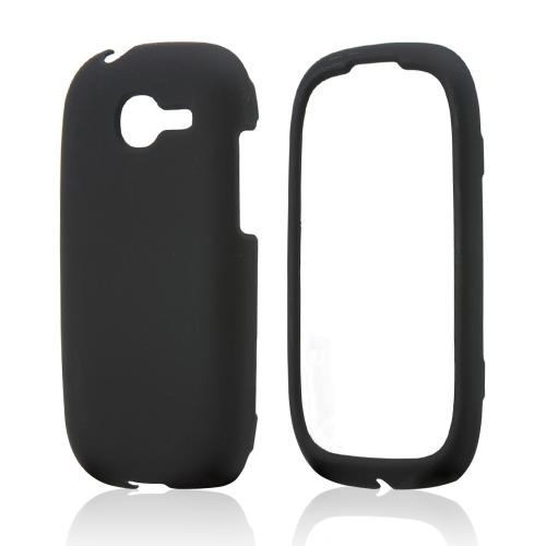 Black Rubberized Hard Case for Samsung Gravity Q