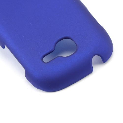 Blue Rubberized Hard Case for Samsung Gravity Q