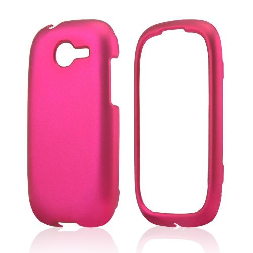 Hot Pink Rubberized Hard Case for Samsung Gravity Q
