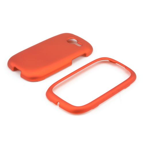 Orange Rubberized Hard Case for Samsung Gravity Q
