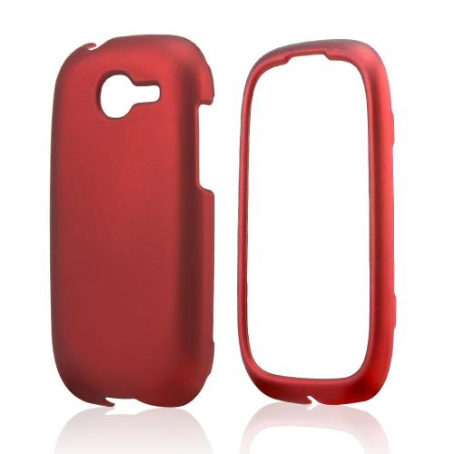 Red Rubberized Hard Case for Samsung Gravity Q