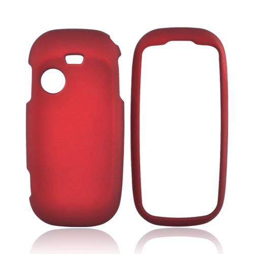 Samsung T369 Rubberized Hard Case - Red
