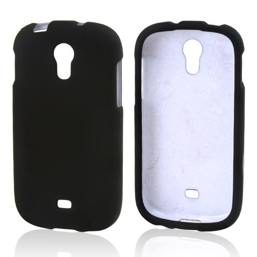 Black Rubberized Hard Case for Samsung Galaxy Light