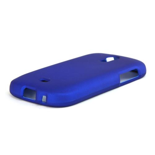 Blue Rubberized Hard Case for Samsung Galaxy Light