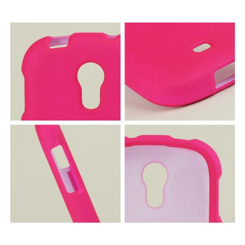 Hot Pink Rubberized Hard Case for Samsung Galaxy Light