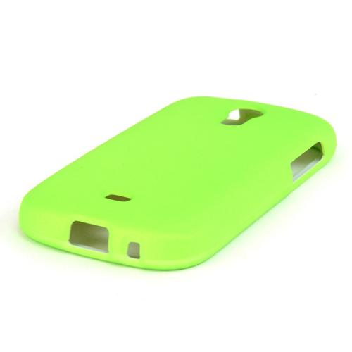 Neon Green Rubberized Hard Case for Samsung Galaxy Light