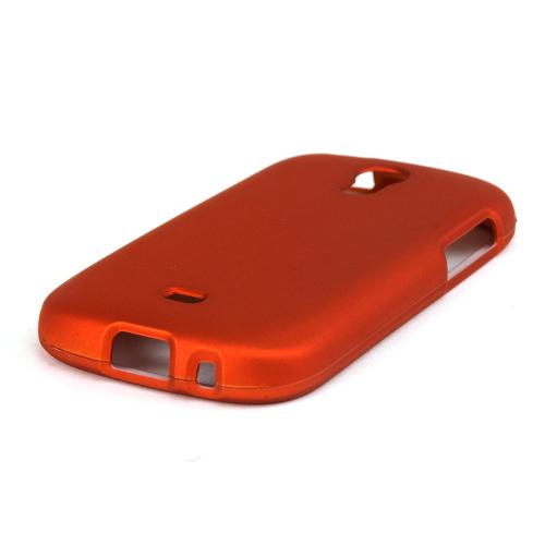 Orange Rubberized Hard Case for Samsung Galaxy Light