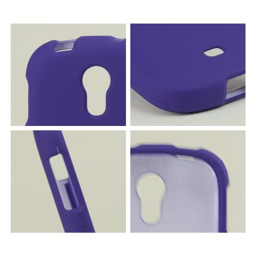 Purple Rubberized Hard Case for Samsung Galaxy Light