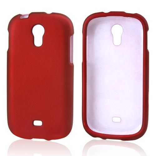 Red Rubberized Hard Case for Samsung Galaxy Light