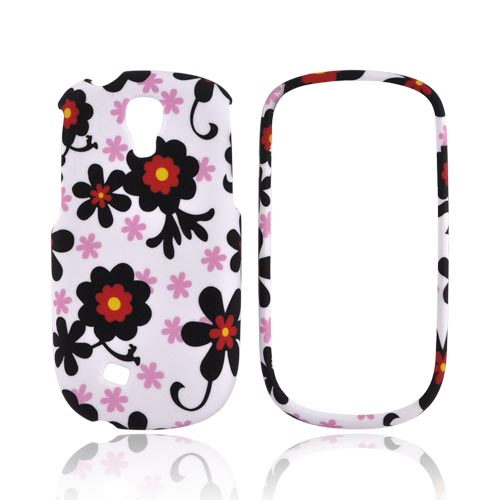 Samsung Gravity Smart Rubberized Hard Case - Black Daisies on White