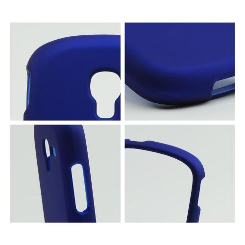 Blue Rubberized Hard Case for Samsung Galaxy Exhibit