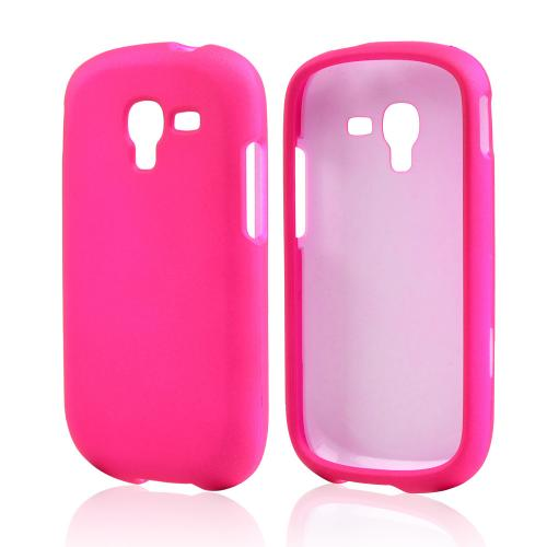 Hot Pink Rubberized Hard Case for Samsung Galaxy Exhibit