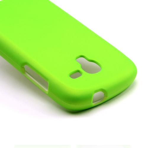 Neon Green Rubberized Hard Case for Samsung Galaxy Exhibit