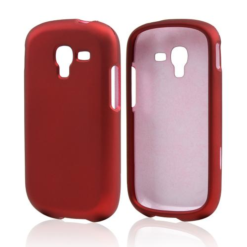 Red Rubberized Hard Case for Samsung Galaxy Exhibit