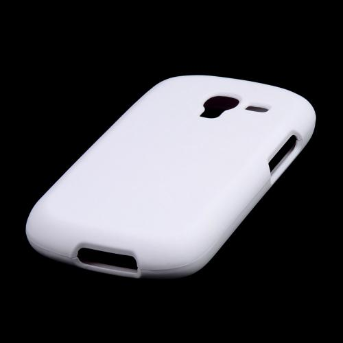 White Rubberized Hard Case for Samsung Galaxy Exhibit
