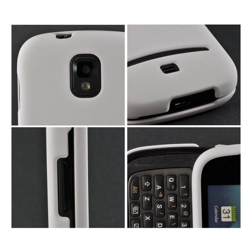 White Rubberized Hard Case for Samsung Galaxy S Relay 4G