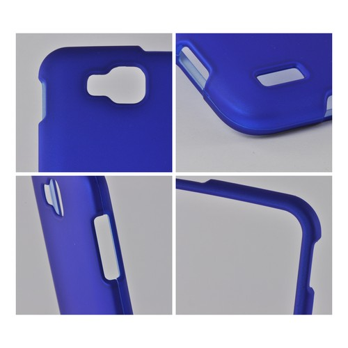 Blue Rubberized Hard Case for Samsung ATIV S T899