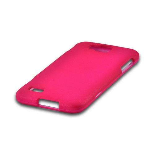 Hot Pink Rubberized Hard Case for Samsung ATIV S T899