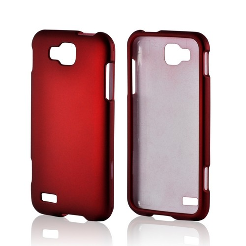 Red Rubberized Hard Case for Samsung ATIV S T899