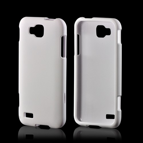 White Rubberized Hard Case for Samsung ATIV S T899
