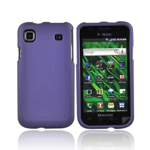 Luxmo Samsung Galaxy S 4G / Vibrant Rubberized Hard Case - Purple